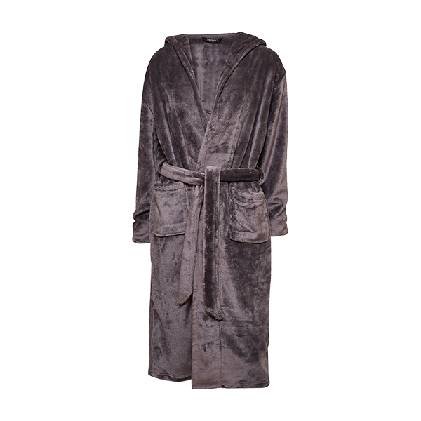Robe w/hood, dark grey