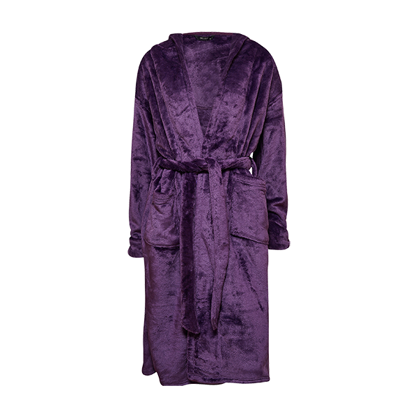 Robe w/hood, purple