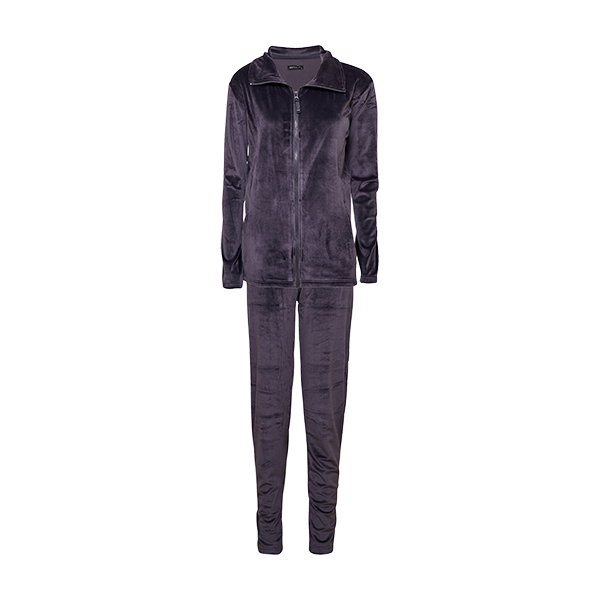 Velour set, dark grey