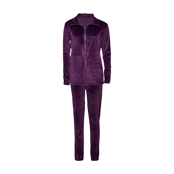 Velour set, dark purple